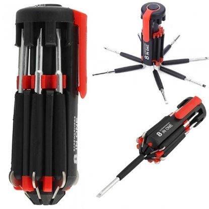 Picture of 8 in 1 Multipurpose Screwdriver With Torch Light