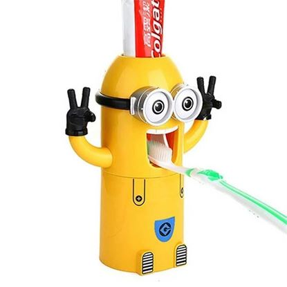 Picture of Minion toothpaste dispenser with brush holder
