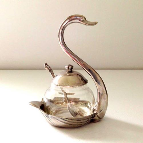 Picture of Swan Sugar Bowl with Spoon ( 1pcs )