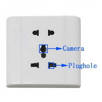 Picture of 606 Wall Socket Spy Hidden Voice-activated Video Camera - White