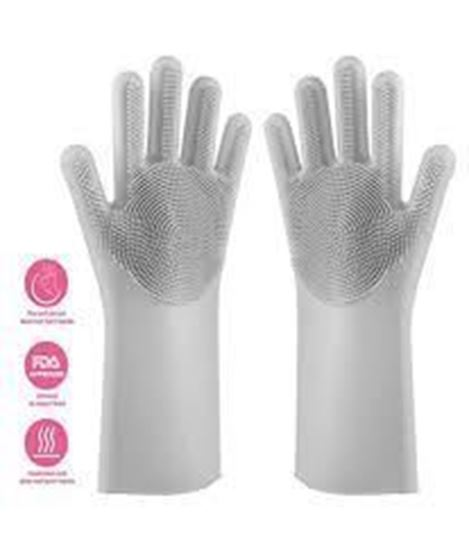 Picture of Dish Washing Kitchen Hand Gloves (Silicone )