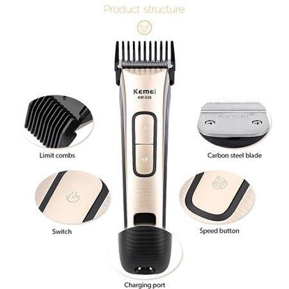 Picture of Kemei KM-236 professional Rechargeable barber hair cutting machine haircut trimmer