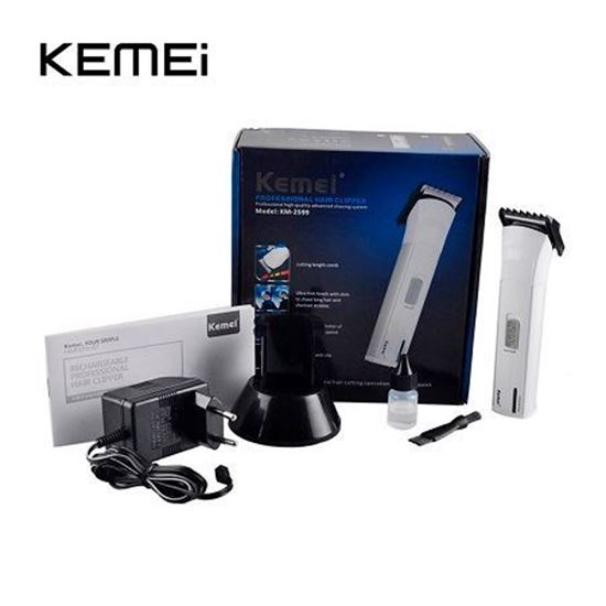 Picture of Kemei KM-2599 Rechargeable Beard Trimmer Black For Men