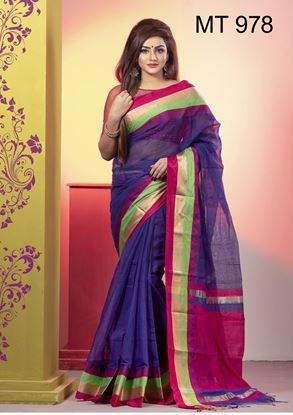 Picture of Tangail half silk Sharee MT-978