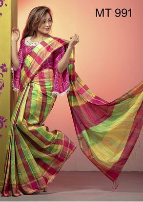 Picture of Tangail half silk Sharee MT-991