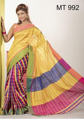 Picture of Tangail half silk Sharee MT-992