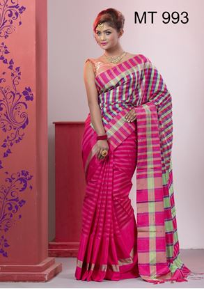 Picture of Tangail half silk Sharee MT-993