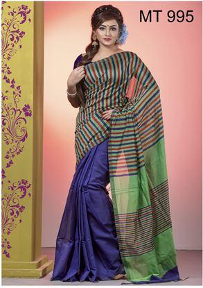 Picture of Tangail half silk Sharee MT-995
