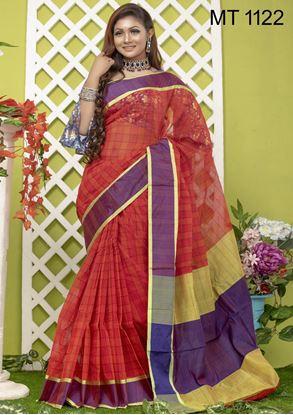 Picture of Tangail half silk Sharee MT-1122