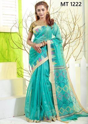 Tangail half silk Sharee MT-1222