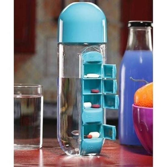 Picture of Pill & vitamin organizer water bottle