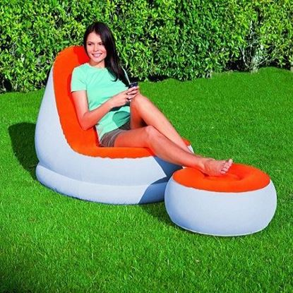 Picture of bestway air sofa With Footrest