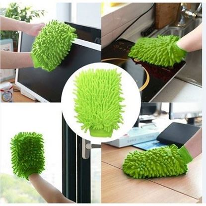 Picture of Microfibre Super Glove Car Van Surface Dust Cleaning Washing Gloves