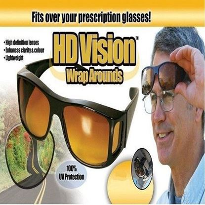 Picture of HD Vision wraparounds Night Driving Sunglasses