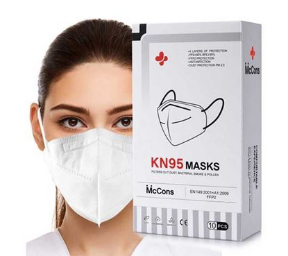 Picture of KN95 FACE MASK ( MCCONS 5 LAYER MASK 10 PCS 1 BOX ).
