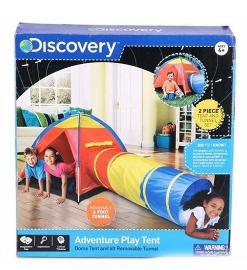 Picture of DISCOVERY KIDS ADVENTURE PLAY TENT INDOOR OUTDOOR TUNNE