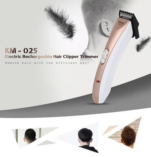 Picture of Kemei KM - 025 Electric Rechargeable Hair Clipper Trimmer Shaver Razor Cordless Adjustable Clipper Haircut for Men Baby EU PLUG