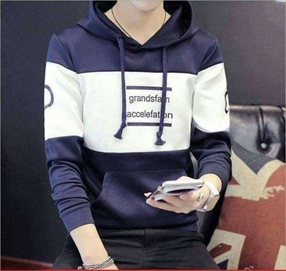 Picture of Blue and white stylish hoody