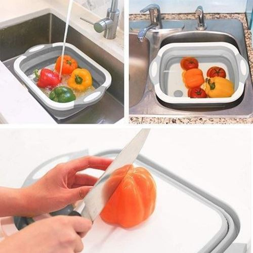 Picture of Collapsible Drain Basket With Cutting Board