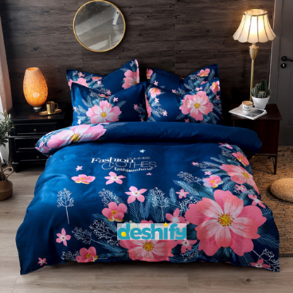 Picture of Bed Sheet Set - 1 Bed Sheet +1 Comforter Cover + 2 Pillow Cover (Aloe Cotton)