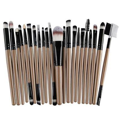 Picture of MAANGE 22 Pcs Professional Makeup Brushes Kits Eyeshadow Eyebrow Powder Blush Eyeliner Lips Make Up Brush Set