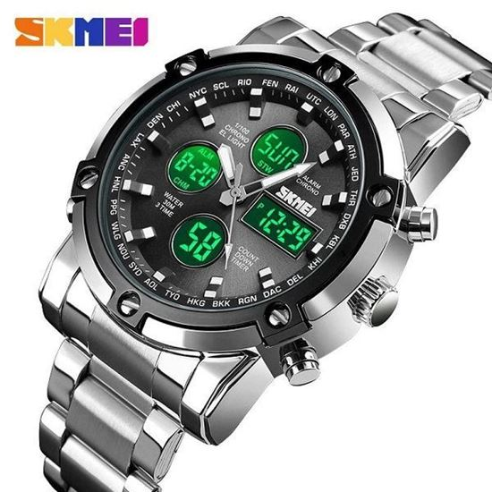 Picture of SKMEI (SP-7002)  SPORTS FASHION QUARTZ DUAL DISPLAY WATERPROOF WATCH FOR MEN
