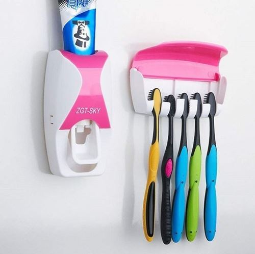 Picture of Automatic Toothpaste Dispenser with Toothbrush Holder