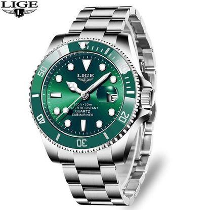 Picture of LIGE 10045D Luxury Fashion Diver Watch Men 30ATM Waterproof Date Clock Sport Watches Mens Quartz Wristwatch Relogio Masculino
