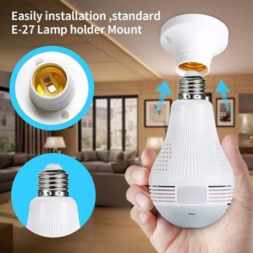Picture of LED Light 1080P Wireless Bulb Lamp IP Camera 360 Degree Home Security