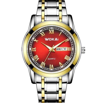 Picture of WOKAI  W101  Mens Dual calendar watch Watches with Stainless Steel
