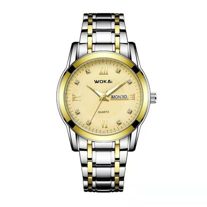 Picture of WOKAI W102 MENS DUAL CALENDAR WATCH WATCHES WITH STAINLESS STEEL