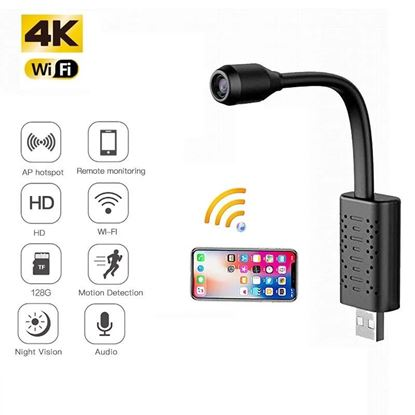 Picture of USB Mini Camera HD 1080P Wireless WiFi Nanny Cam with Audio Live Feed Hidden Motion Detection Portable Security Surveillance Cam