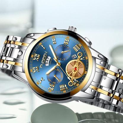 Picture of FNGEEN (4002 SL) Luxury Men's Watches Full Steel Sport Quartz Business Waterproof Casual Watch