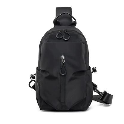 Picture of Men One Shoulder Backpack (Black color ) Women Bagapck Boys Cycling Sports Travel Fashion Chest Bag Student School University Crossbody Bag