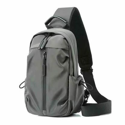 Picture of Men One Shoulder Backpack (Ash Color ) Women Bagapck Boys Cycling Sports Travel Fashion Chest Bag Student School University Crossbody Bag