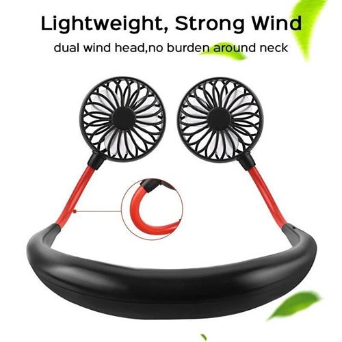 Picture of USB Rechargeable Wearable Portable Neckband Fan
