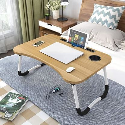Picture of Folding Laptop Stand Holder & Study Table Desk for Bed