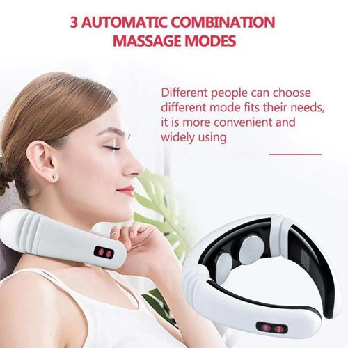 Picture of Electric pulse back and neck massager far infrared heating pain relief tool healthcare relaxation