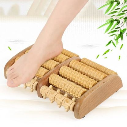 Picture of 5 Wheel Wooden Foot Massager