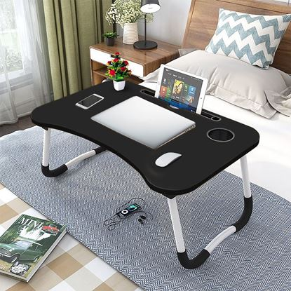 Picture of FOLDING LAPTOP STAND HOLDER & STUDY TABLE DESK FOR BED Black color