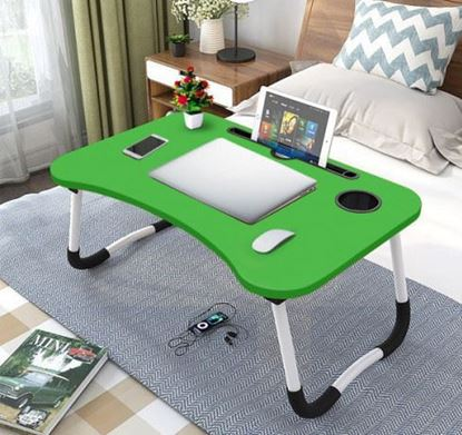 Picture of FOLDING LAPTOP STAND HOLDER & STUDY TABLE DESK FOR BED GREEN COLOR