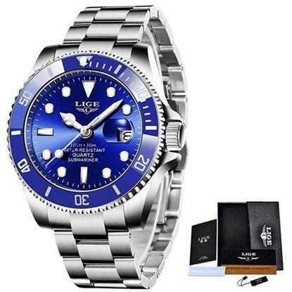 Picture of LIGE 10045E Luxury Fashion Diver Watch Men 30ATM Waterproof Date Clock Sport Watches Mens Quartz Wristwatch Relogio Masculino