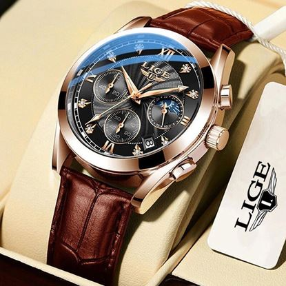 Picture of LIGE 8912H Waterproof Luminous Chronograph Watch