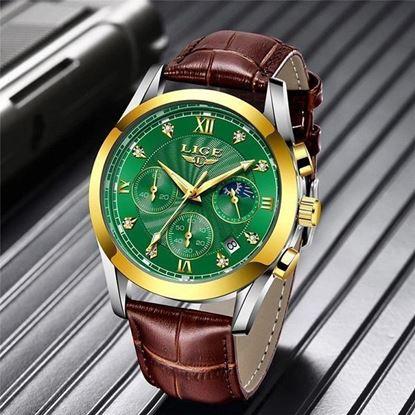 Picture of LIGE- LG8911 Chronograph active Leather belt Watch men Fashion Quartz Sport Watches