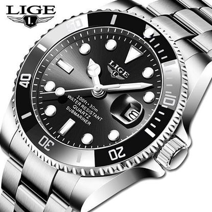 Picture of LIGE 10045B Mechanical Sapphire Glass 316L Steel