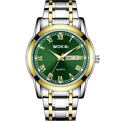 Picture of WOKAI W105 MENS DUAL CALENDAR WATCH WATCHES WITH STAINLESS STEEL
