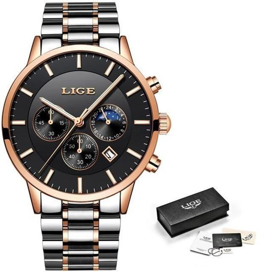 Picture of LIGE Men's Luxury Watch 9893D