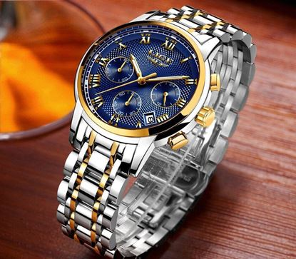Picture of LIGE Watch Multifunction Chronograph Leather LIGE9849A