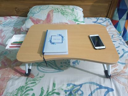 Picture of FOLDABLE STUDY TABLE DESK FOR BED KIDS TABLE WITH DRAWER