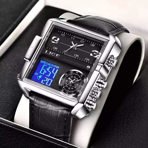 Picture of LIGE Sports Men  Watch Digital Watches- LIGE 8925  black